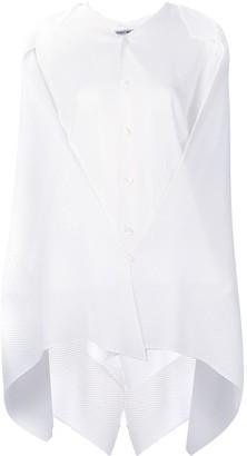 Issey Miyake Cape-Panel Asymmetric Shirt