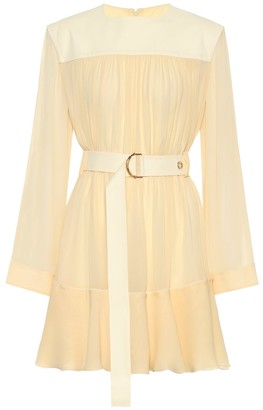 Chloã© Silk-blend mousseline minidress