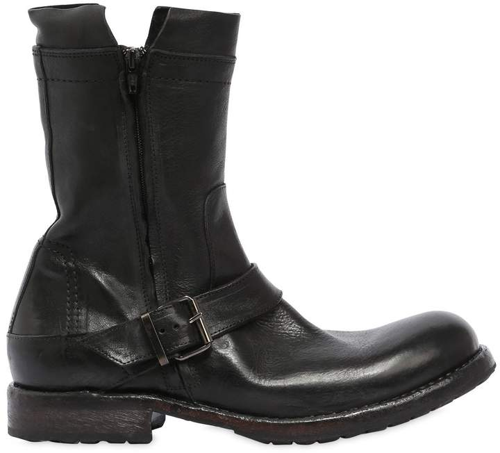 Moma Leather Biker Boots