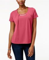 JM Collection Petite Chain-Neck Top, Only at Macy's