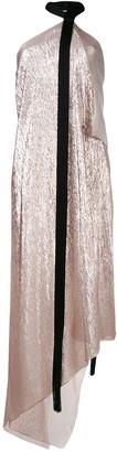 Roland Mouret Copernicus lurex asymmetric dress