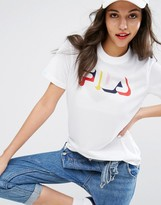 Fila Relaxed Tshirt With Multi Color Logo In Mesh