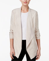 JM Collection Faux-Leather Draped Jacket, Only at Macy's