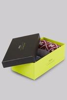 Moss Bros Wine & Navy Fairisle Socks Gift Box