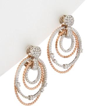 Diana M Fine Jewelry 14K Two-Tone 1.09 Ct. Tw. Diamond Drop Earrings