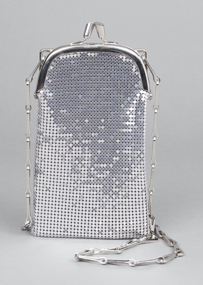 Paco Rabanne Metallic Kiss-Lock Chain Clutch Bag