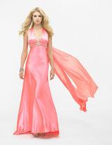 La Femme 12262 Halter Style with Racer Back Embellished Evening Gown