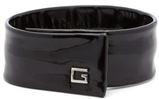 Gucci Logo-plaque Patent-leather Choker - Black