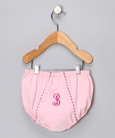 Princess Linens Pink Corduroy Initial Diaper Cover - Infant & Toddler