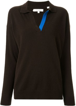 Chinti and Parker Collared V-Neck Jumper