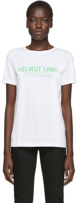 Helmut Lang SSENSE Exclusive White Logo T-Shirt