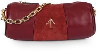 MANU Atelier Mini Colorblock Leather & Suede Cylinder Shoulder Bag