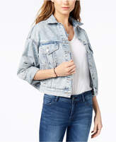 M1858 Cotton Cropped Denim Jacket, Created for Macy's