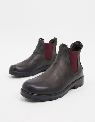 Rule London chelsea leather boot in brown