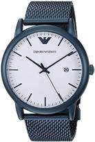 Emporio Armani Men's 'Luigi' Quartz and Stainless-Steel-Plated Casual Watch, Color:Blue (Model: AR11025)