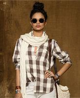 Denim & Supply Ralph Lauren Top, Long-Sleeve Twill Plaid Shirt