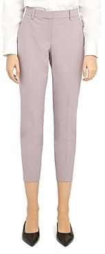 Theory Treeca Wool-Blend Cropped Pants