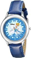 Disney Kids' W000058 Cinderella Stainless Steel Time Teacher Watch
