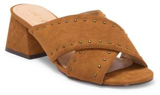Chase & Chloe Butter Studded Crossover Mule