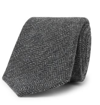 Kingsman + Drake's 8cm Herringbone Wool Tie