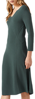 Jigsaw Ottoman Clean Knitted Dress, Foliage Green