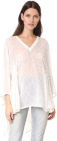Roberto Cavalli Cinched V Neck Top
