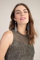 Trina Turk RHINESTONE MESH EARRINGS