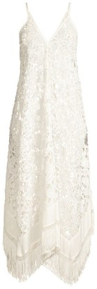 Ramy Brook Kasia Floral Lace Midi Cover-Up Dress