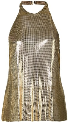 Fannie Schiavoni Backless Chainmail Top