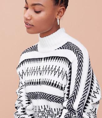 LOFT Fair Isle Poncho Sweater