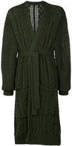 Balmain chunky knit robe cardigan