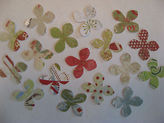 Martha Stewart 100+ 1 Flower Paper Punch Outs - Christmas, Distressed