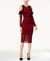 Thalia Sodi Cold-Shoulder Lace Dress, Created for Macy's