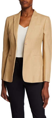 Valentino One-Button Linen Jacket