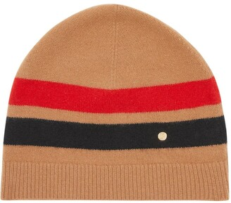 Burberry Monogram-Plaque Fine-Knit Beanie Hat