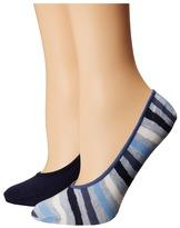 Cole Haan 2-Pair Wave Stripe No Show Women's No Show Socks Shoes