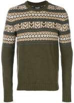 Woolrich patterned crew neck jumper