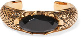Saint Laurent Burnished Gold-plated Crystal Cuff - one size