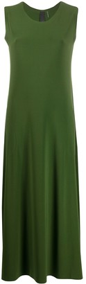 Norma Kamali Sleeveless Flared Maxi Dress