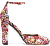 Tabitha Simmons Petra Floral-print Leather Pumps - Red