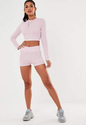 Missguided Petite Baby Pink Msgd Lifestyle Micro Shorts