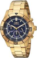 Invicta Men's 'Specialty' Quartz Stainless Steel Casual Watch, Color:Gold-Toned (Model: 12844)