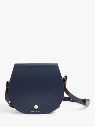 Honey & Toast Etter Leather Saddle Bag