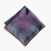 Silk Pocket Square In Medallion Print