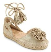 Aquazzura Mini Kid's Sunshine Leather & Suede Espadrilles
