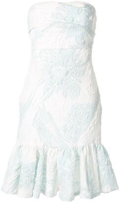 Bambah Floral Strapless Dress