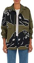 Valentino Women's Beaded Cotton Gabardine Field Jacket