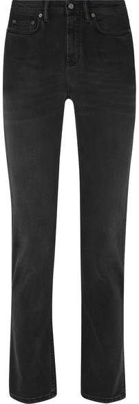 Acne Studios South Mid-rise Straight-leg Jeans - Black
