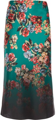 Alice + Olivia Floral-Print Skirt