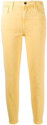 J Brand Ruby cropped straight-leg jeans